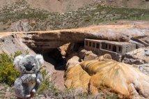 Sur le pont de l'Inca dans la région de Mendoza (Argentine)