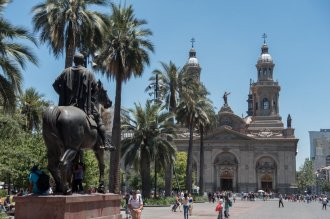 Arrivée de Pedro de Valdivia à Santiago