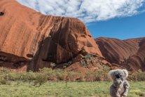 Au pied d'Uluru