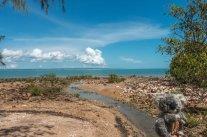 A la plage de Darwin