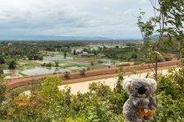 Quelle vue sur les plaines cambodgiennes !
