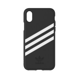 [au+1 Collection Select] adidas Originals Moulded Case for iPhone X Black/White