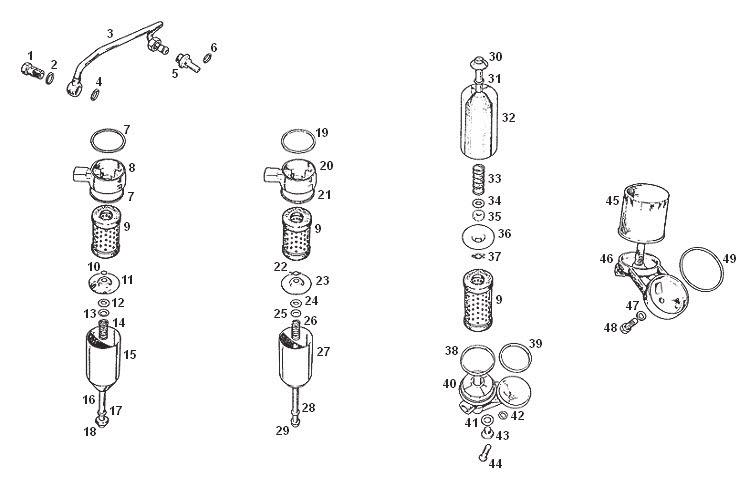 MGB Oil Filter Assembly