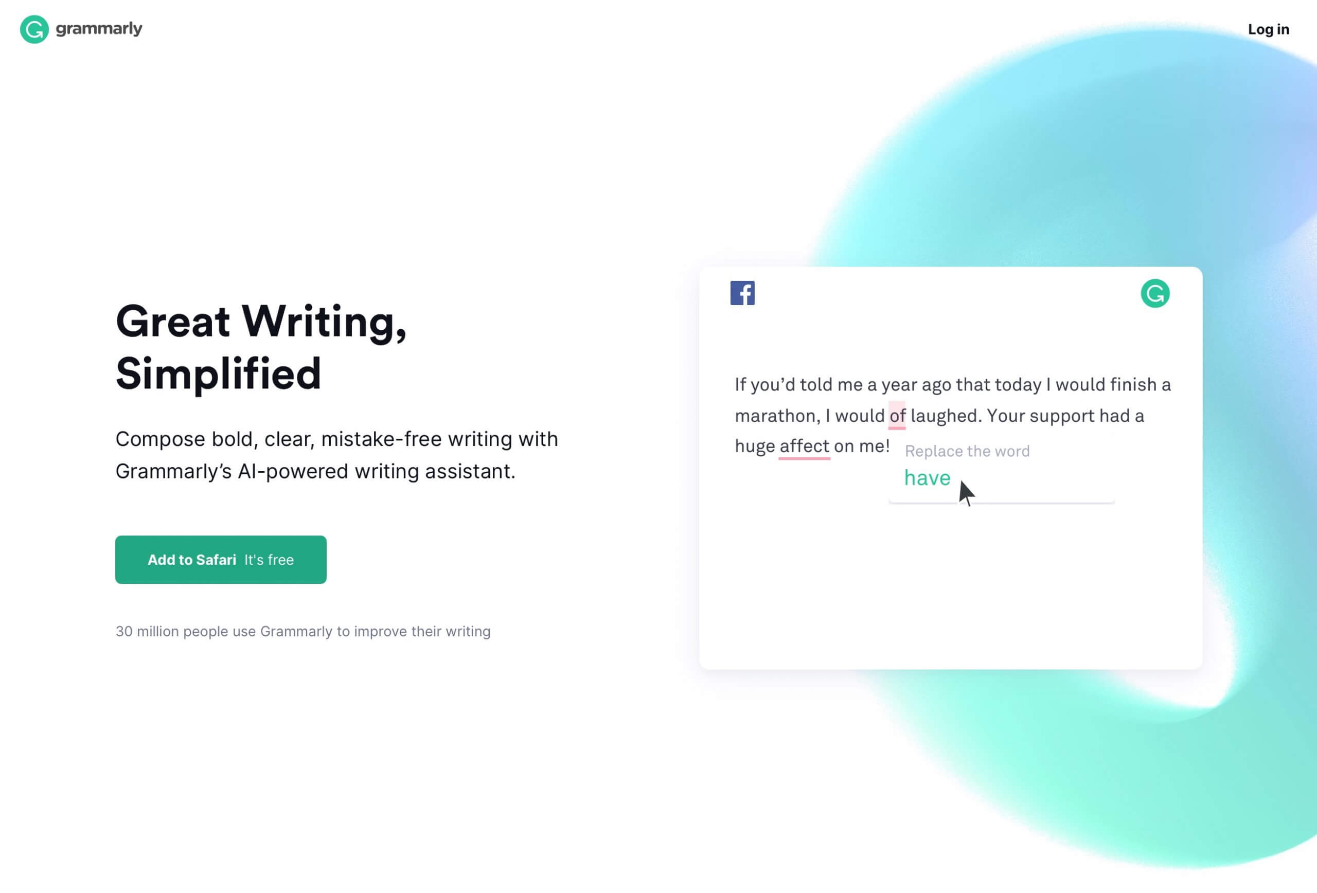 grammarly review-2-home page