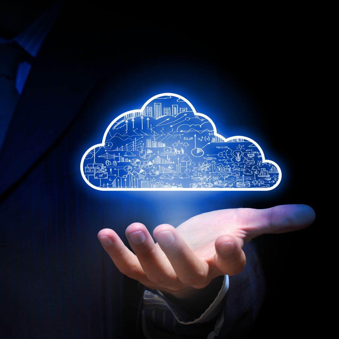 44868378 - businessman hand holding cloud computing concept in palm - Microsoft Cloud IT Pro Podcast Episode 136