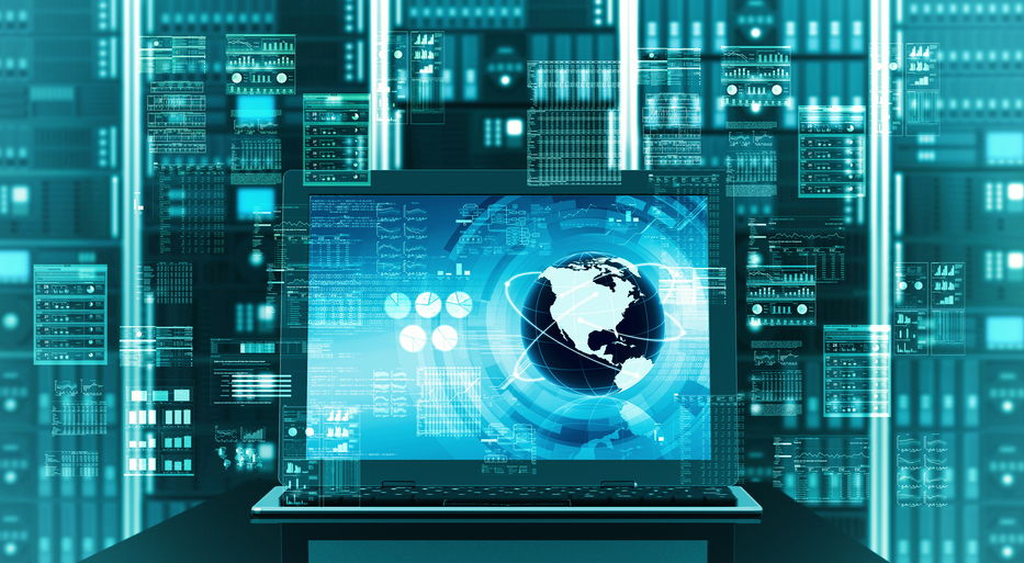 Internet server laptop