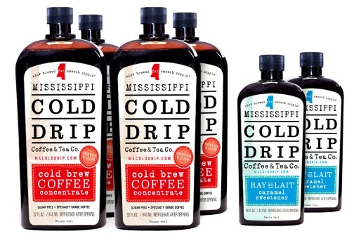 4 32-ounce Coffee Concentrate, 2 16-ounce Ray Au Lait - Mississippi Cold Drip Coffee and Tea Company