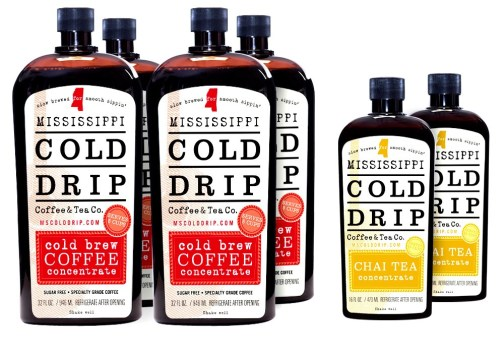 4-Pack Coffee Concentrate, 2-pack Chai Tea