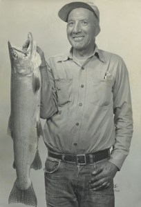 1955 - RJC with Cutthroat Trout