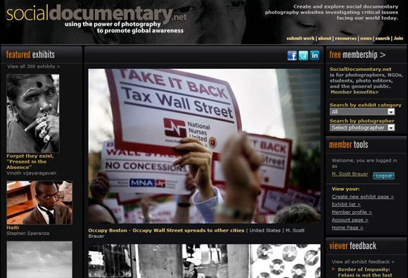 OccupyBoston - M. Scott Brauer - SocialDocumentary.net