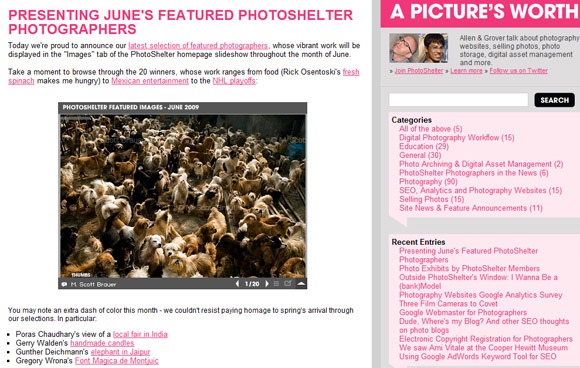 Photoshelter featured photographer - June 2009