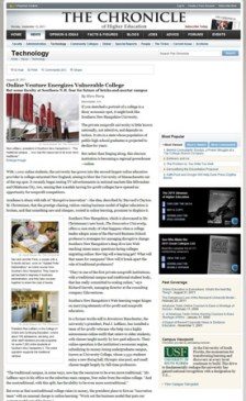 Online Venture Energizes Vulnerable College - 28 August 2011 - Chronicle of Higher Education