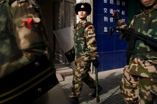 Riot police - Kashgar, Xinjiang, China.