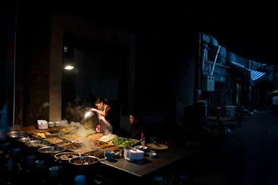 Alley restaurant - Haikou, Hainan, China.