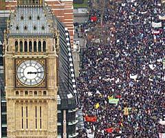 770 protestando en Londres contra la Guerra en Irak