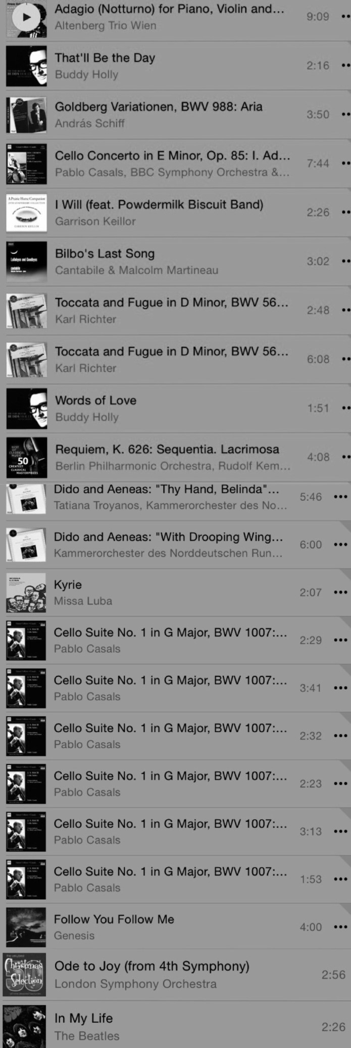 a playlist for dad
