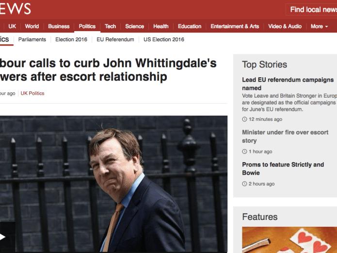 BBC on Whittingdale