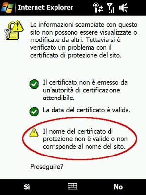 Windows Mobile Certificate Error