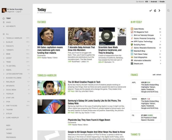 feedly today