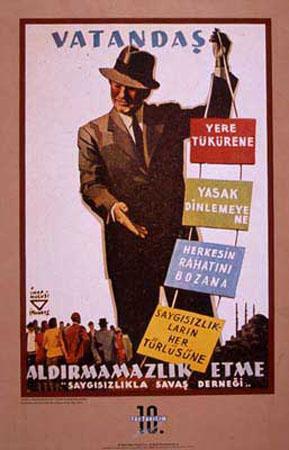 İhap Hulusi'nin meşhur posterlerinden biri.