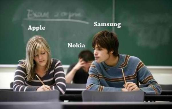 apple-samsung-and-nokia-as-students