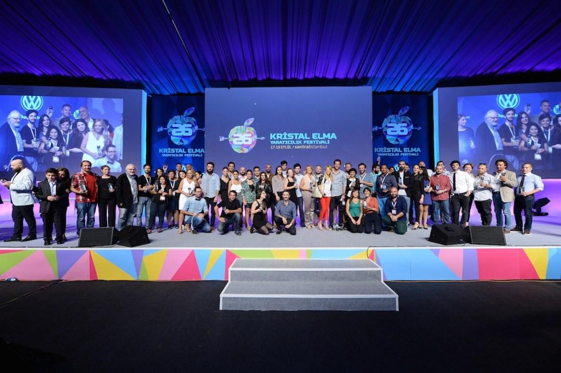 2014 Kristal Elma Yaratıcılık Ödülü sahipleri.