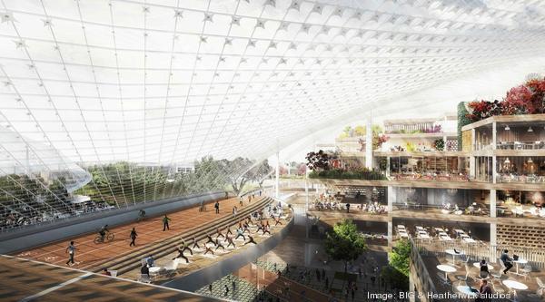 Google'ın yeni Genel Merkez binası bir bilim-kurgu filminin platosunu andırıyor.