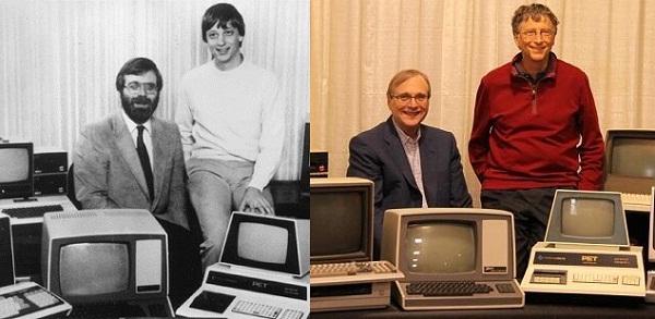 Microsoft'un Kurucuları Bill Gates ve Paul Allen.