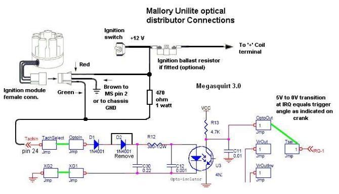 megasquirt w/ unitlite optical distributor