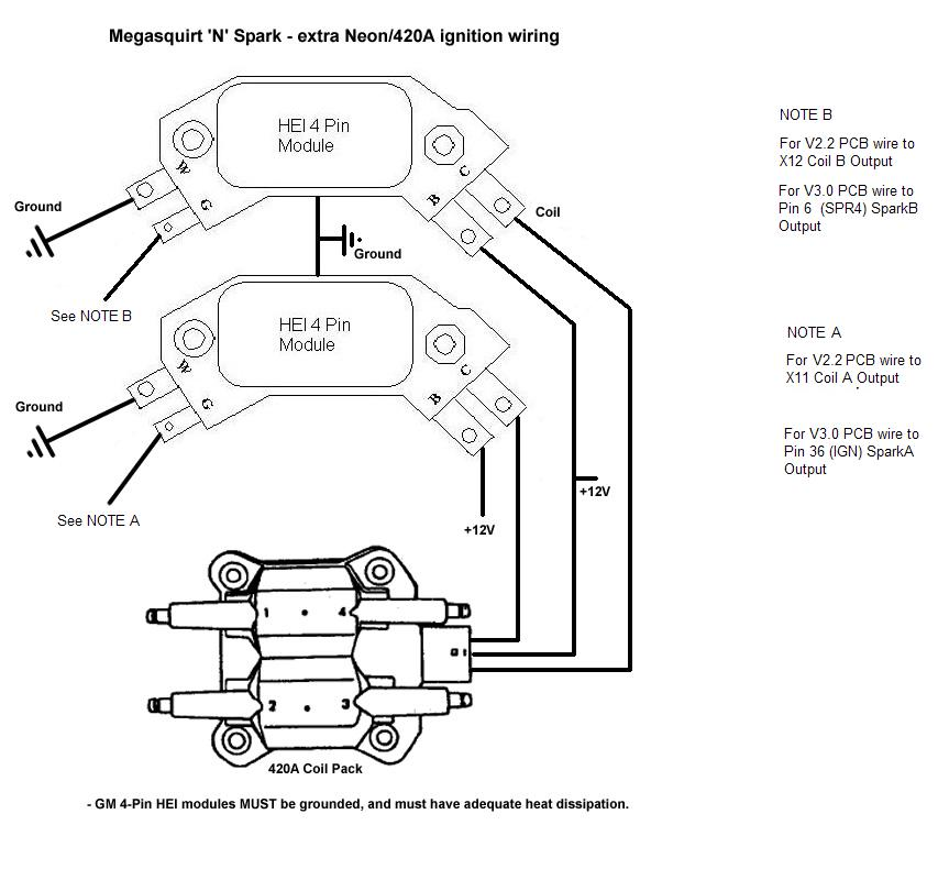 megasquirt 3 wiring diagram mega diagrams and information full skeleton 2 hei distributor schematic gm 5 pin module data site for chevy 350 timing