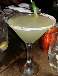 Cucumber Margarita - very fresh and made with elderflower and lime