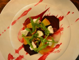 Salt baked beetroot salad, a must for beetroot fans, I liked it :)