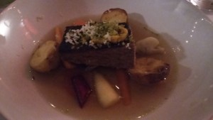 Meat course - brisket with tea broth