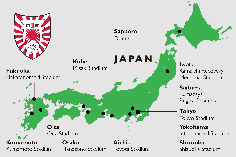 Tour Japan Venues Map