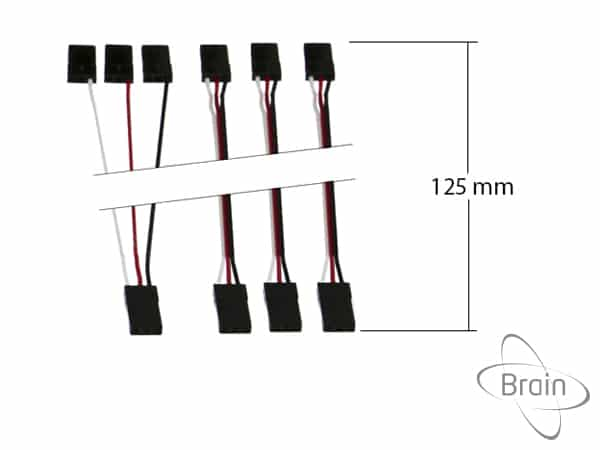 Set of cables for STD receivers 125mm image