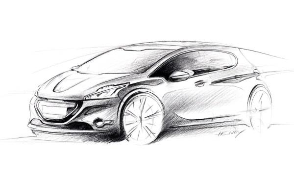 01-Peugeot-208-Design-Sketch-01