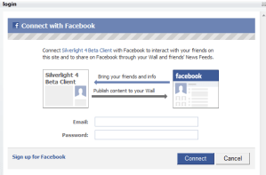 Authorizing the Facebook client to recieve your News feeds