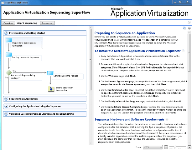Application Virtualization Sequencing SuperFlow