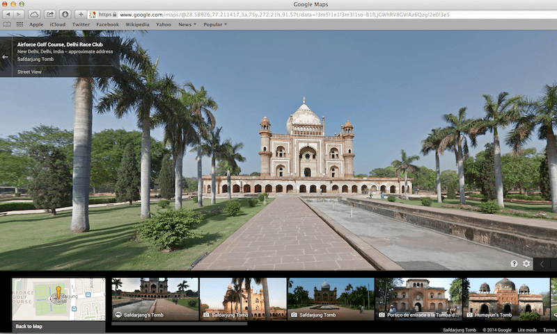 Google-maps-Safdarjung-Tomb