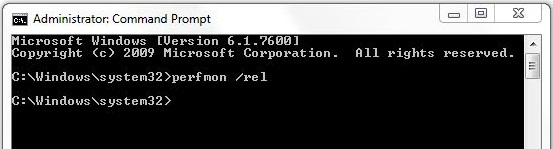 Invoking Reliability Monitor in Windows 7 using Command Prompt