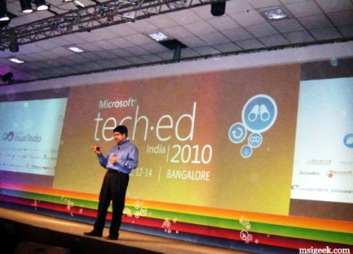 Watching Soma Segar's Keynote at Teched India 2010