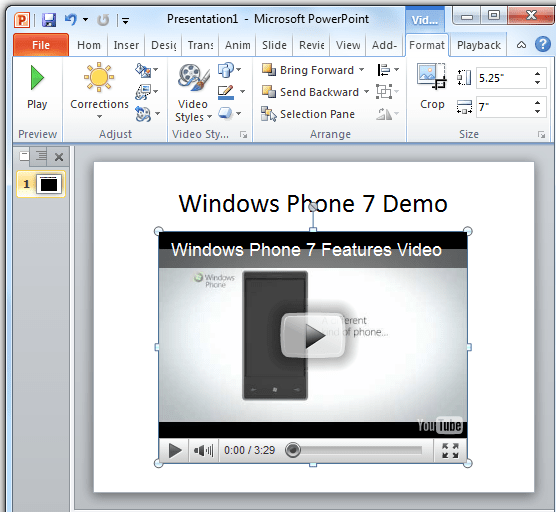 How to add a YouTube video to your PowerPoint Presentation