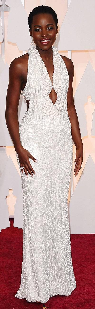 Lupita Nyong in Calvin Klein gown