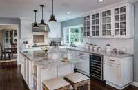 White Painted Cabinets in Walnut Creek Kitchen Remodel