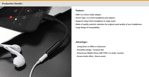 small resolution of type c to 3 5mm headphone jack adapter supports using 3 5mm headphone to enjoy music this adapter supports you connect devices to listening music that use