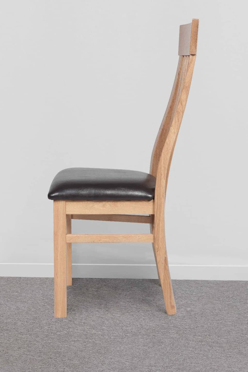 brown leather high back dining chairs round table with 5 set of two solid oak chair