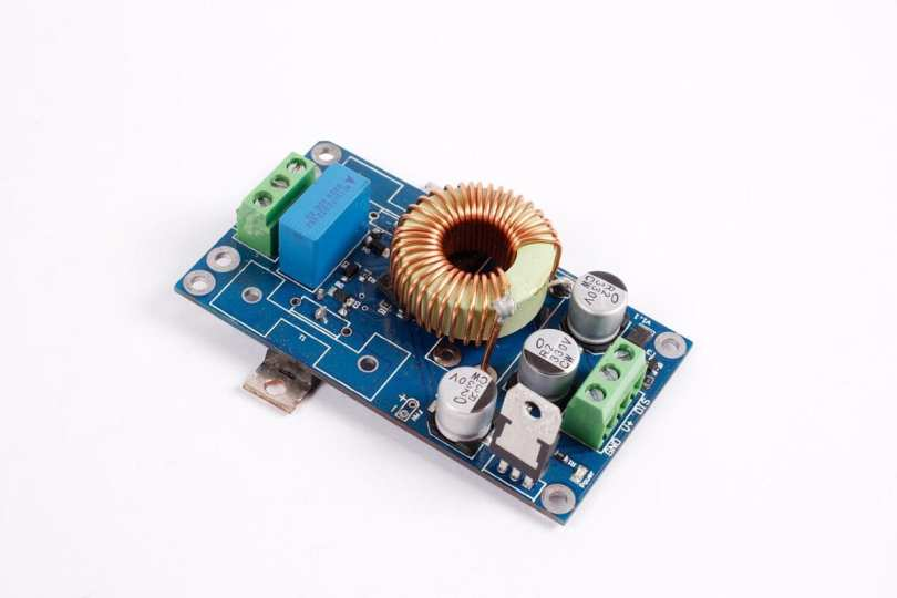 The main board converts direct current to alternating current