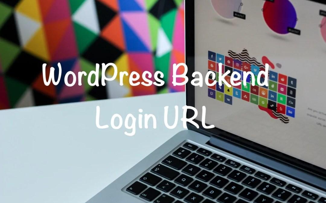 WordPress Backend Login URL