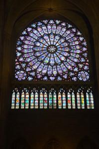 Original Rose Window, Madonna and Child, Notre Dame Cathedral, Paris