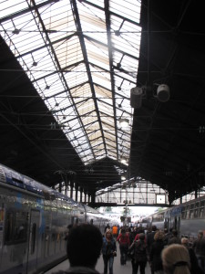 St. Lazare Station in Paris, France